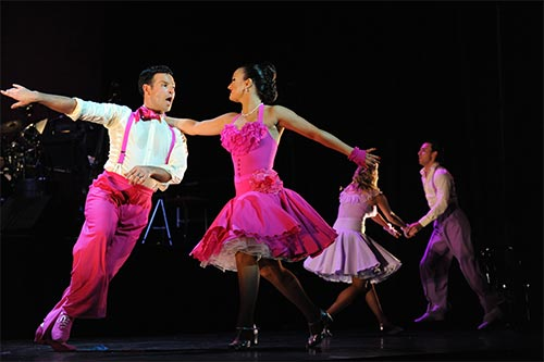 Darren and Lilia on the West End show Latin Fever