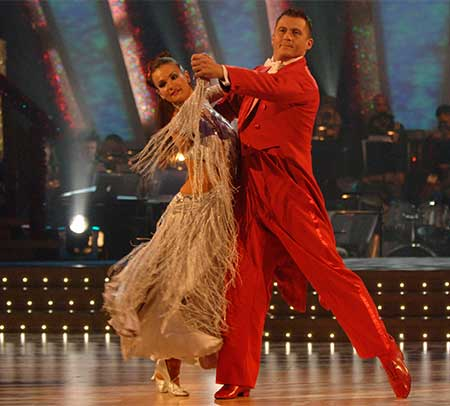 Darren Gough and Lilia Kopylova on Strictly Come Dancing